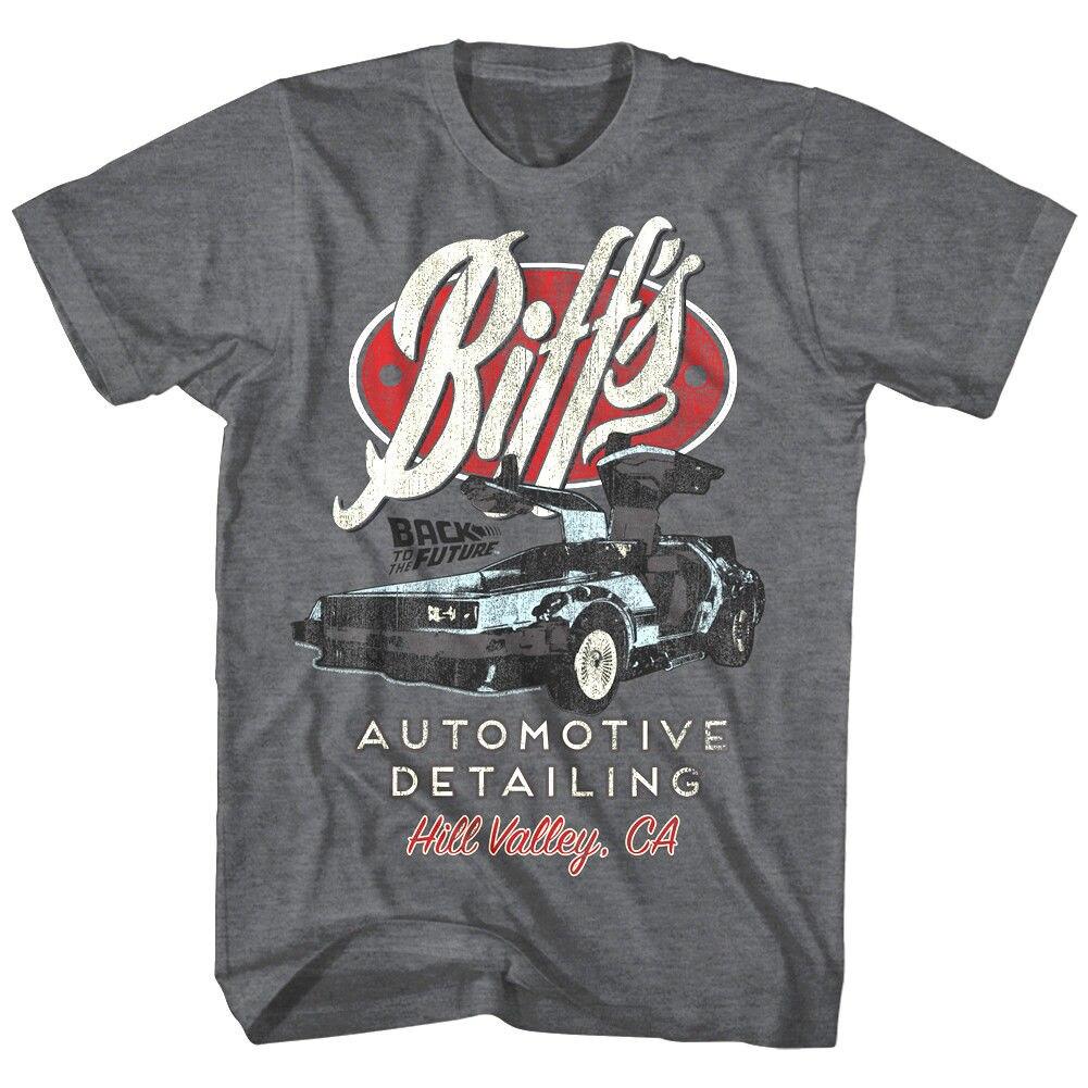 Back To The Future Biffs Automotive Hill Valley Mens T Shirt California Delorean Casual Short Sleeve Tee 010814 T-Shirts    - AliExpress