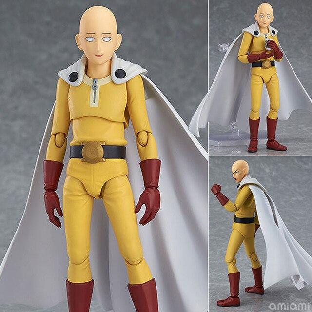 Saitama figura de acción de One Punch Man Saitama Figma 310, juguete de modelos coleccionables, regalo de cumpleaños, 14cm, PVC