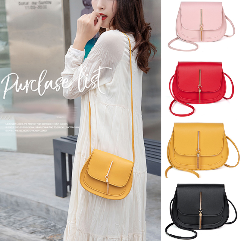 Women Messenger Bag Banana 2019 Famous Brands Tassel Lady Solid Color Shoulder Crossbody Fashion Beach Pack Sac Main Femme Bolsa