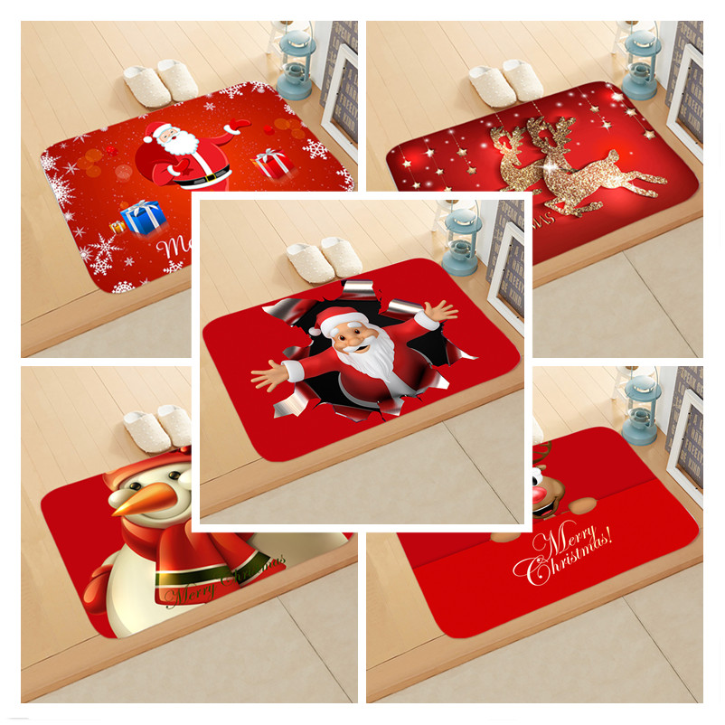 2019 Christmas Mat Outdoor Carpet Doormat Santa Ornament Christmas Decoration For Home Xmas Navidad Deco Noel New Year Gift 2020
