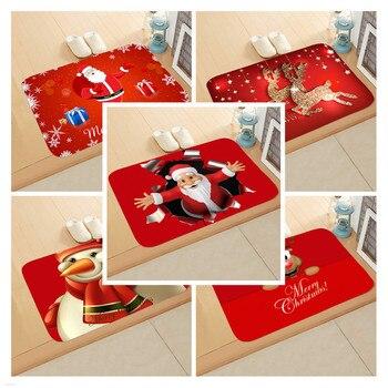 Tapete navideño para exteriores, alfombra para decoración de Navidad, ornamento de Santa,...
