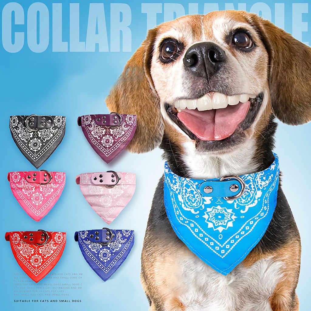 子犬ネッカチーフのための調節可能なペット犬猫ネックバンダナ首輪スカーフアクセサリー猫 & 小型犬黒赤、青、ピンク紫