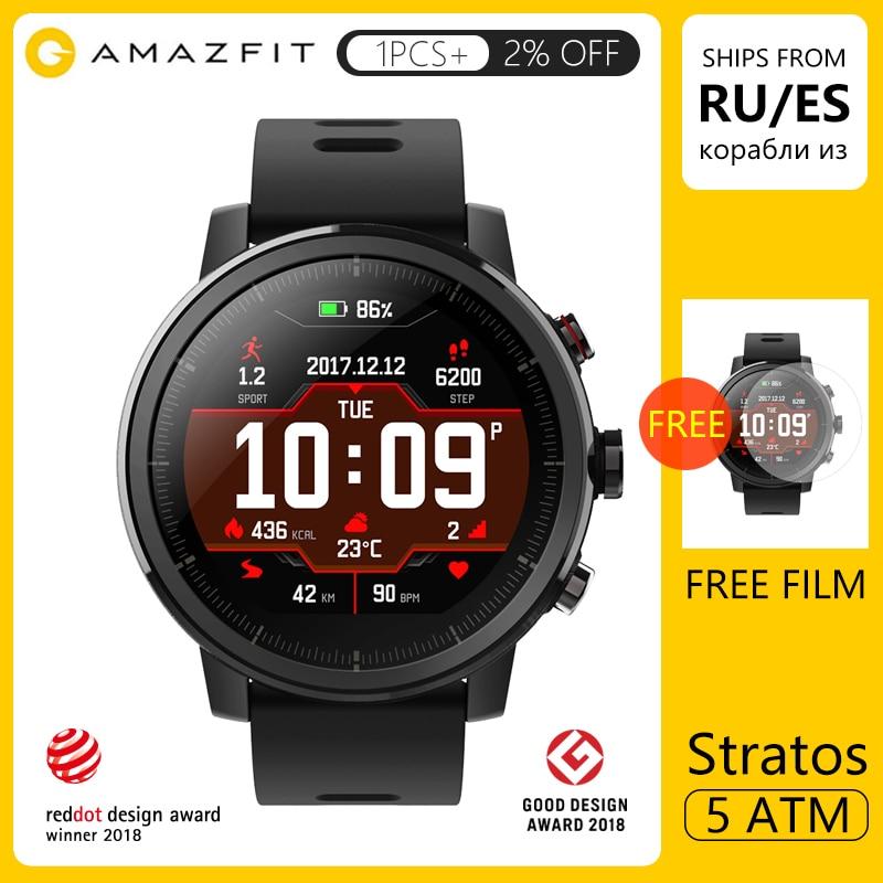 Amazfit Stratos Smart Watch APP Ver 2 Women Men GPS PPG Heart Rate Monitor 5ATM Waterproof Onboard Music Sport Smartwatch