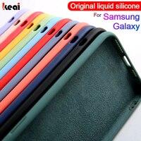 Líquido de protección de silicona caso para Samsung Galaxy A51 A50 A71 A70 A10 A40 A30 Nota 20 10 9 8 S9 S8 S10 S20 S21 Ultra Plus