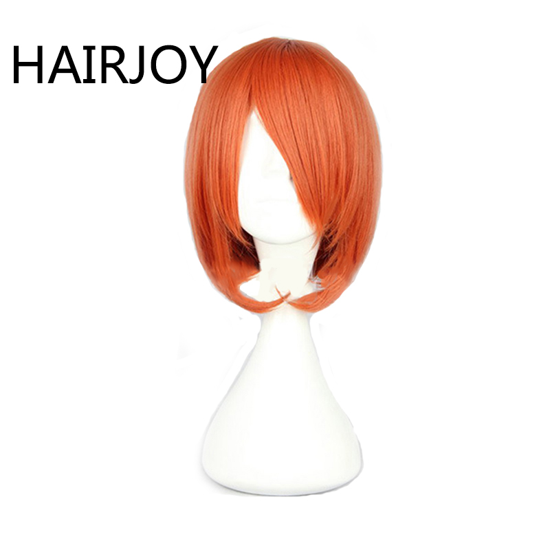 HAIRJOY Cosplay Wig Short Straight Synthetic Hair  Orange Wigs 4 Colors 1