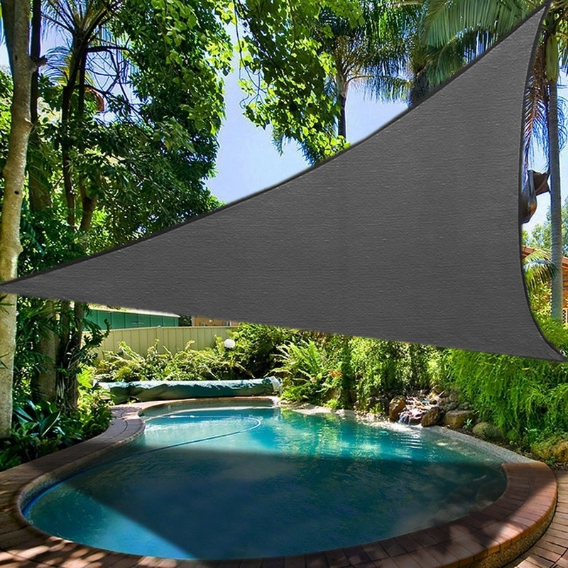Waterproof Awning Sun Shade Sail Canopy - Square Triangle EllePeri