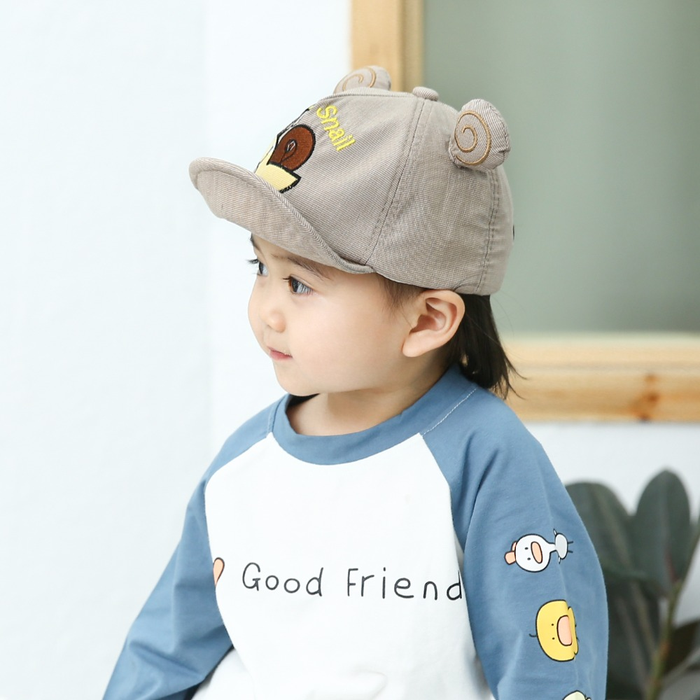 H10cab5d08a054bdc99317a8649b42777r - Baby Hat Cute Bear Embroidered Kids Girl Boy Caps Cotton Adjustable Newborn Baseball Cap Infant Toddler Beach Outdoor Sun Hat
