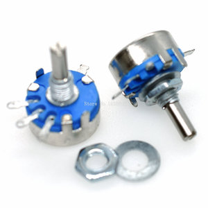 2PCS WH5-1A 470R 1K 10K 47K 4K7 100K 470K 220K 1K5 22K 1M ohm 3-Terminals Round Shaft Rotary Taper Carbon Potentiometer WH5
