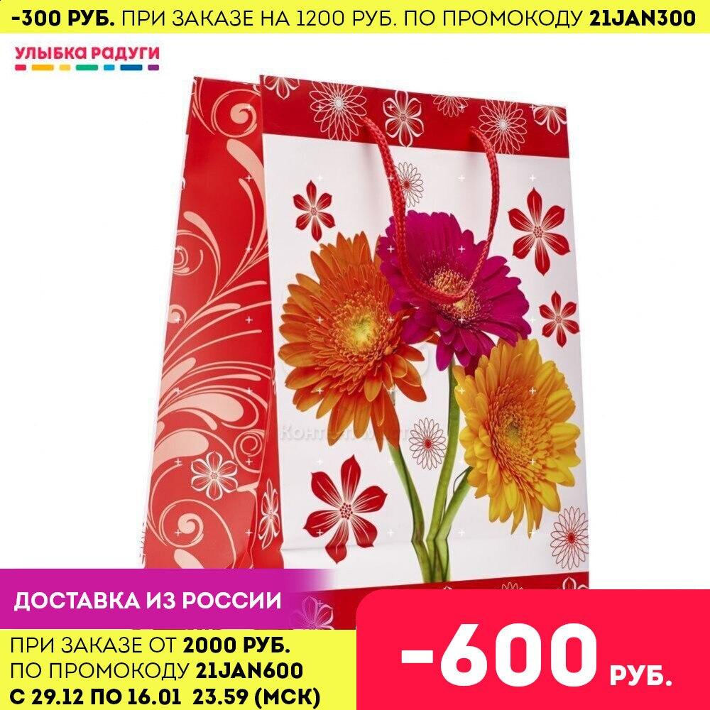 Пакет УРРА подарочный ламинированный 26*32*13см|Подарочные сумки и упаковка| | АлиЭкспресс