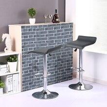 2Pcs/set Adjustable Bar Chair Square Board European-style Bar Stools Swivel Bar Chair Assembly Parts Funiture HWC