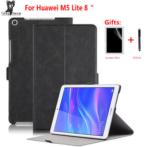 Stand Case For Huawei Mediapad M5 lite 8 0 JDN2-W09 JDN2-AL00 Tablet folding case for Huawei m5 lite 8.0 inch cover gift pen