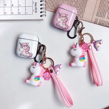 INS Unicorn Earphone Case for Air Pods 1/2 Cover Hard PC Earpods Case for Airpod