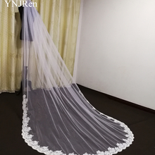 Lace Veil Wedding-Accessories Comb Metal Long New with Custom White