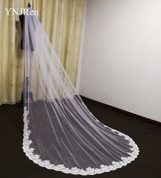 New wedding veil lace cathedral long bride Ivory White Wedding accessories with metal comb Custom - discount item  45% OFF Wedding Accessories