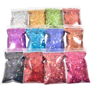 3 Shaped 10g/bag Holographic Nail Art Glitter 3D Micro Flakes Colorful Sequins Polish Manicure for Decoration 1-3MM