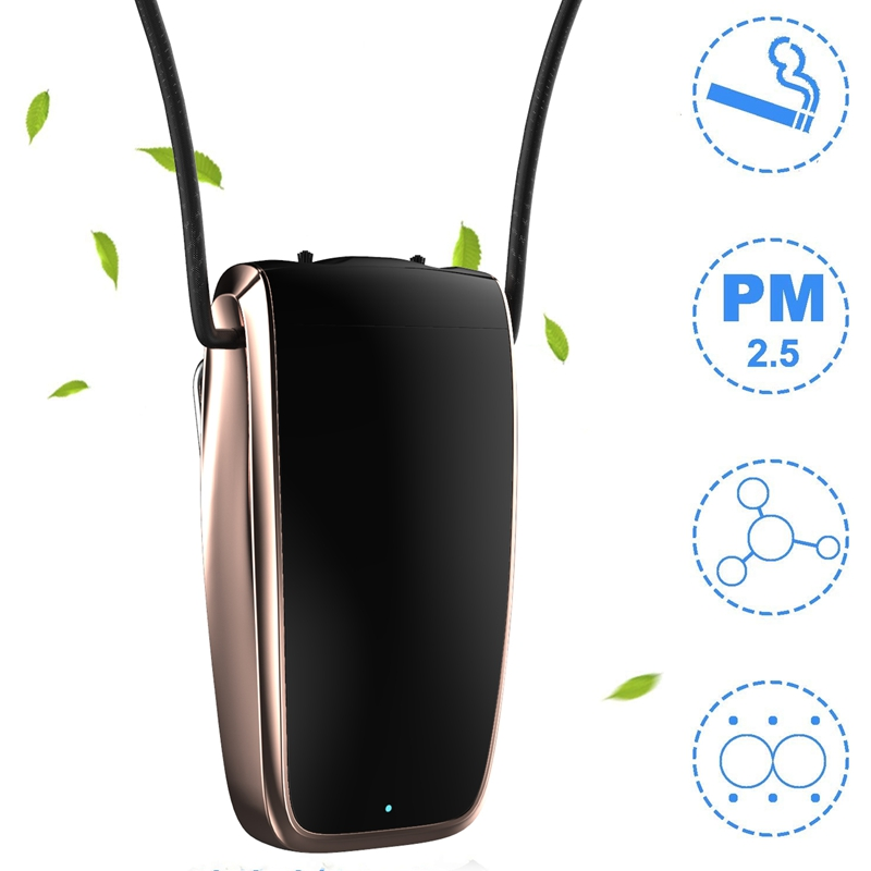 Portable Air Purifier, Necklace Wearable Purifier, Mini Travel Size USB Charging, Air Freshener Ionizer 3