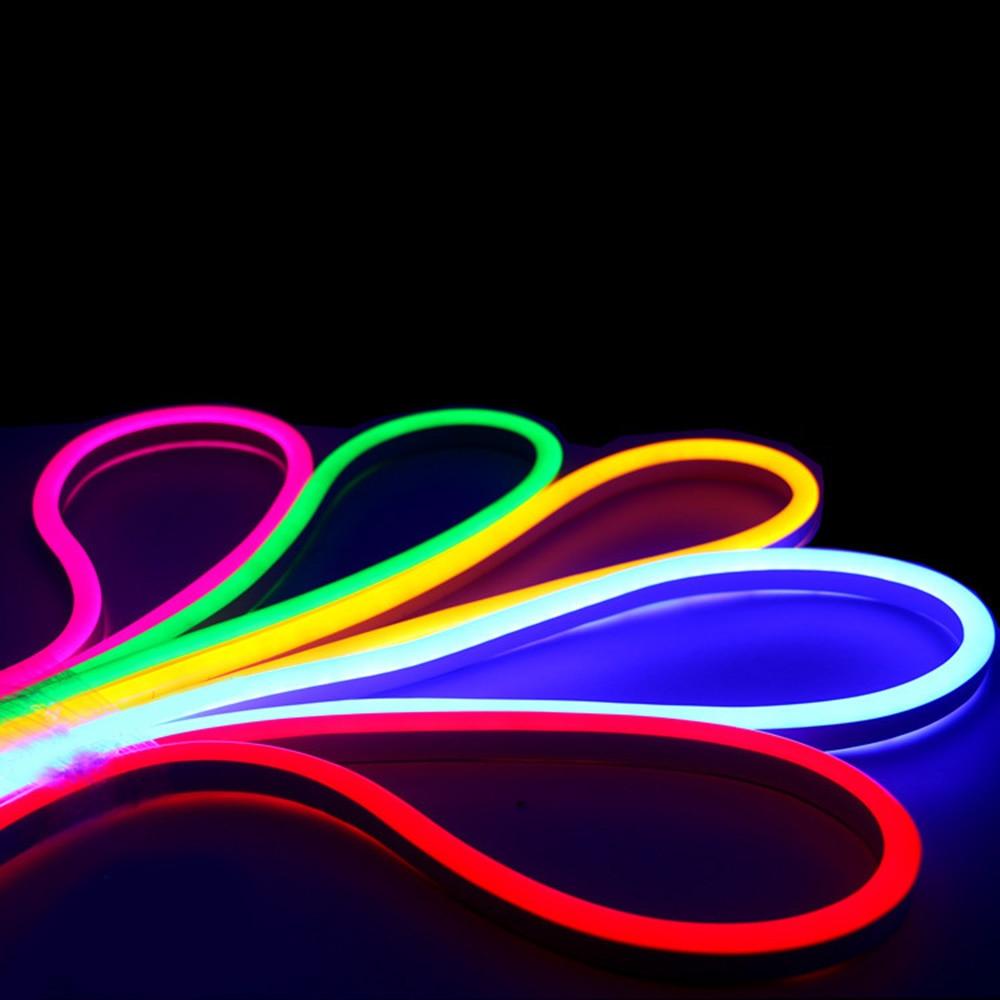 1M Waterproof LED Flash Flexible Neon Light Strip Glow EL Wire White Cuttable