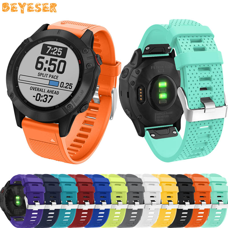 Silicone wrist strap for Garmin Fenix 6S 6 6X Pro 5S 5 5X Plus 3 3 HR Easy fit wristband 20mm 22mm 26mm Quick Release watch band