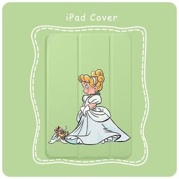 цена на Case For iPad Mini 5 4 3 2 1 Tablet Cover Auto Sleep Wake Cute Princess Cinderella For iPad Air 3 2 PU Protect Skin iPad Case