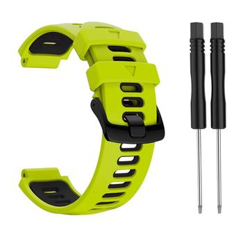 10 Colors Silicone 22mm Strap Sports Strap For Garmin Forerunner 735xt 220 230 235 620 630 Two-color Silicone Replacement Steel 15