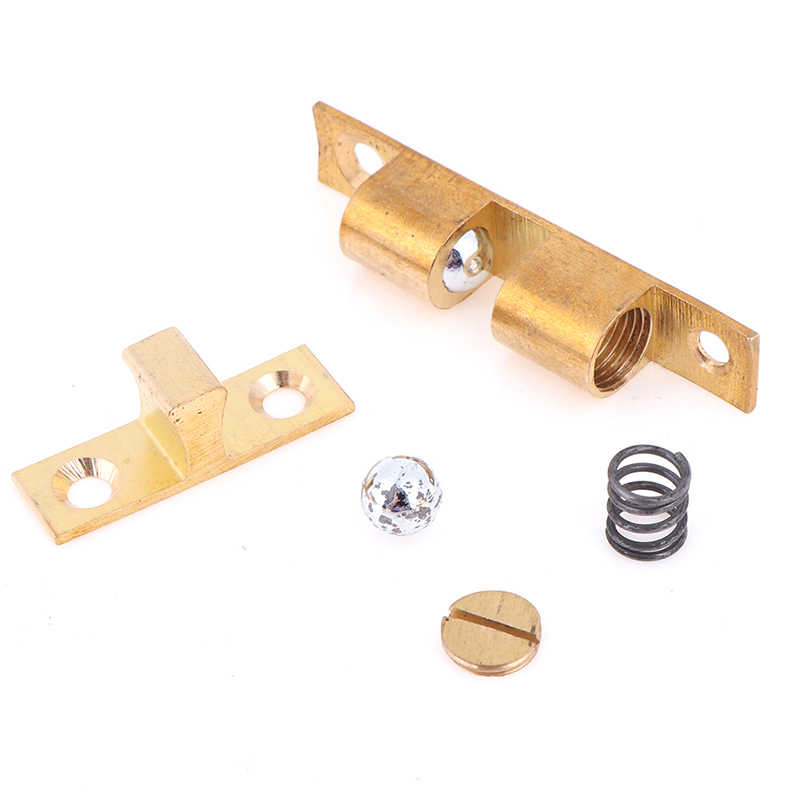 1 set verstelbare messing deur gesp deurslot touch latch kasten interlock schakelaar chassis kast lente bal locker