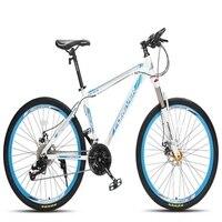 산악 자전거 24/26 인치 24/27 속도 듀얼 디스크 브레이크 충격 흡수 오프로드 레이싱 성인 자전거