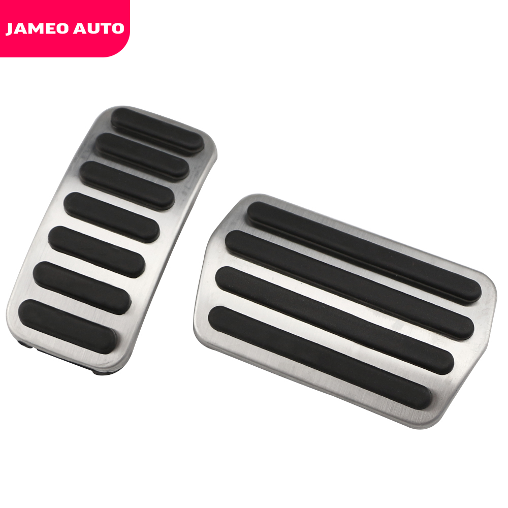Car Pedals Aluminum Auto Footrest Fuel Brake Sets For Volvo S40 AT