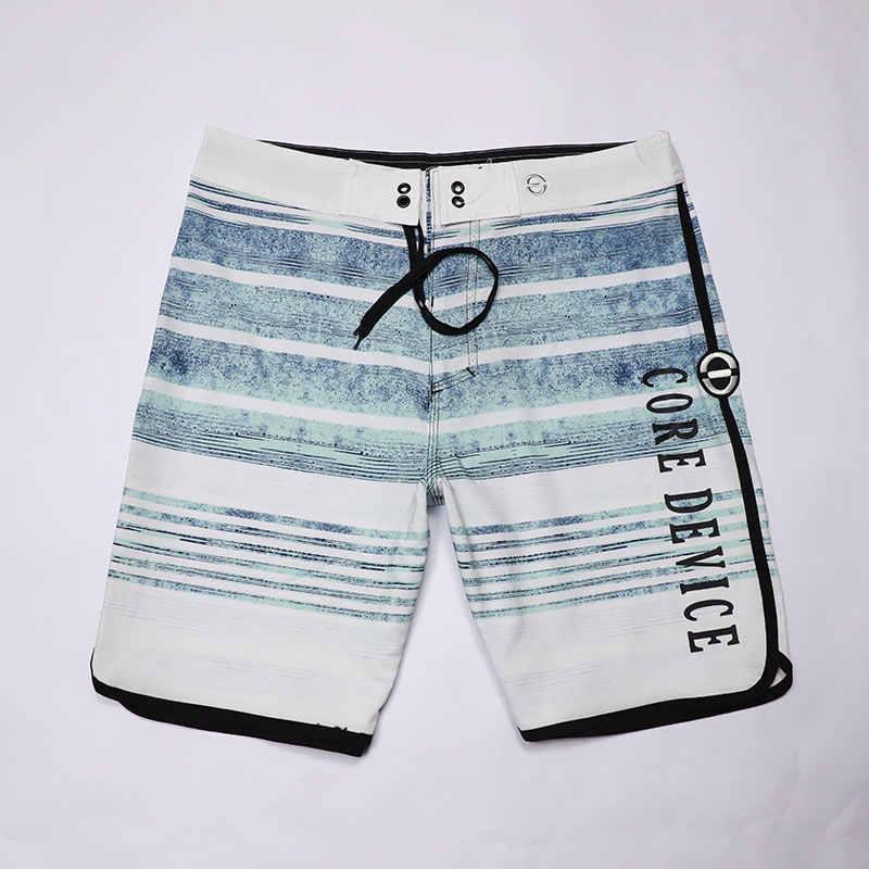 Новые тонкие водоотталкивающие эластичные летние шорты, мужские пляжные шорты, мужские пляжные шорты-бермуды