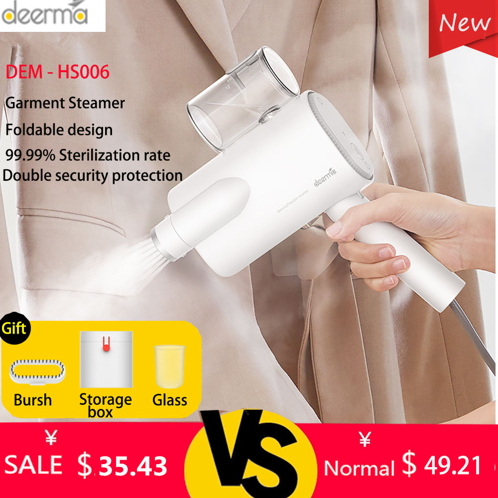 Deerma DEM-HS006 Foldable Handheld Garment Steamer Steam Iron Household Portable Small Clothes Wrinkle Sterilization