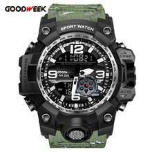 GOODWEEK Waterproof Military Watch Men Sports Watch