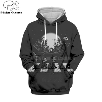 PLstar Cosmos jack skellington Jack Sally 3d hoodies/Sweatshirt women for men Nightmare Before Christmas Halloween streetwear
