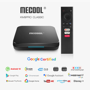 Mecool KM9 Pro Classic Android 10.0 WiFi TV Box Amlogic S905X2 2G RAM 16G ROM 2.4G 4K Google Certified Media Player Console