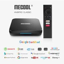 Mecool KM9 Pro Klassische Android 10,0 WiFi TV Box Amlogic S905X2 2G RAM 16G ROM 2,4G 4K Google Zertifiziert Media Player Konsole