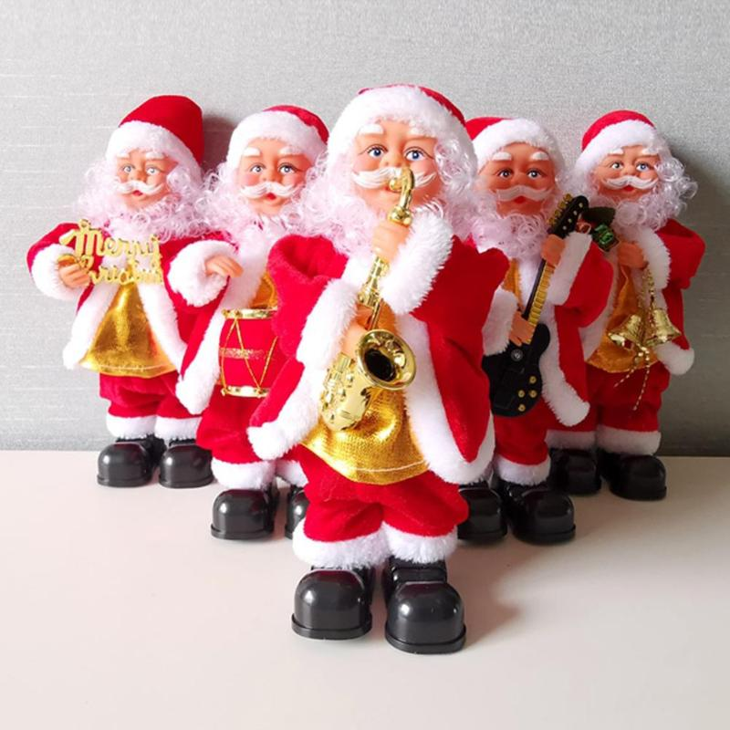 Electric Christmas Santa Claus Toy Music Doll Toy For Children Christmas Gifts Effectively Create Festival Atmosphere