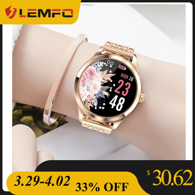 LEMFO LW07 Smart Watch Women 2020 DIY Watch Face Colorful TFT Screen Health Monitoring Smartwatch Ladies for Android IOS 1