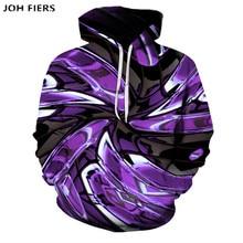 2019 Autumn Men Hoodies Digital Print 3D Sweatshirt Personality Design Vortex Pullover Fashion Men Long Sleeve Pocket Hoodie ombre topstitched pocket design hoodie