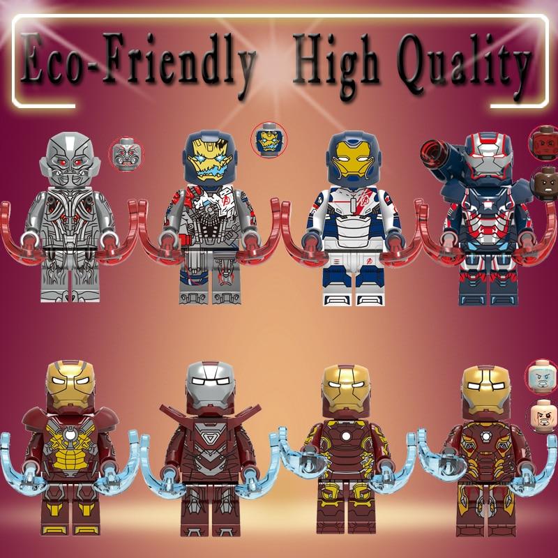 Legoly Building Blocks Super Heroes Iron Man Legions Ultron Mark 17 Mark 33 Mark 43 Mark 45 Figures For Children Toys X0267
