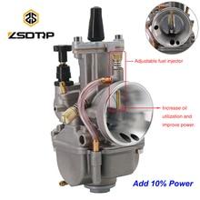ZSDTRP Universal PWK 28 30 32 34 Keihin Koso ATV 먼지 자전거 용 파워 제트가있는 2T 4T 오토바이 기화기 10% 전원 추가