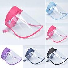 Unisex Multi-función Anti-spitting Hat a prueba de polvo Anti-vaho Saliva protección facial ojo máscara transparente Sun Cap