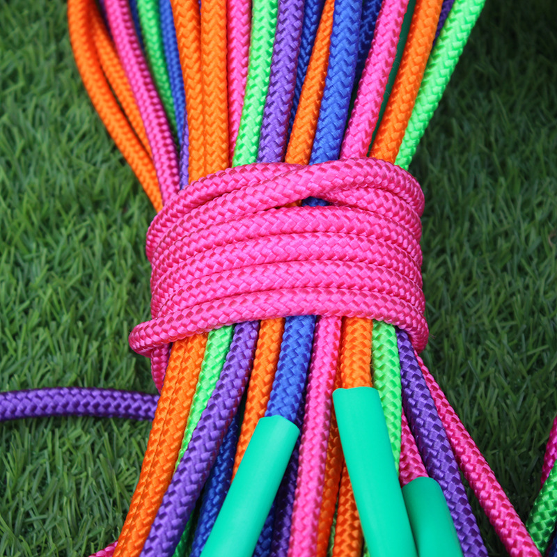 Rough Cotton Rope Jump Rope Long Handle Children Fitness Environmentally Friendly Jump Rope Middle School Students Children Jump