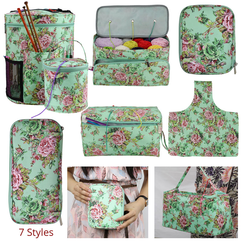 Looen 7 Styles Empty Yarn Storage Bag Set For Crochet Hook And Knitting Needles Crochet Bag Sewing Accessories Knitting Bag (1)