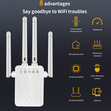 TISHRIC Wifi Repeater 300Mbps Amplifier 2.4G VPN Network Extender Router Wifi Booster Wireless Repeater 802.11N Wi fi Router