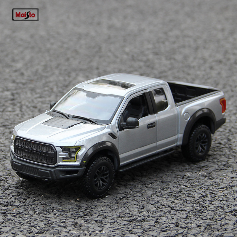 Maisto 1:24  Raptor F150 Off-road Pickup Racing Convertible Alloy Car Model Simulation Car Decoration Collection Gift Toy
