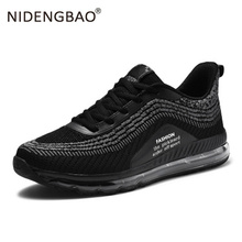 New Shoes Men Big Size Mesh Sport running shoes Outdoor Breathable Cushioning Sneakers Mens Walking Footwear Zapatos Hombre breathable running shoes for men sneaksers genuine leather outdoor walking shoes male sport sneakers zapatos hombre plus size 45
