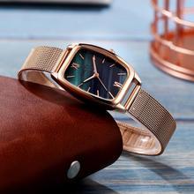 Gaiety Luxury Watch Women Rose Gold Water Drill Bracelet Watch