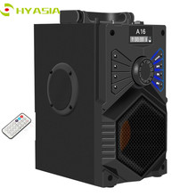 HYASIA Wireless Bluetooth Speaker Outdoor Portable Stereo Subwoofer Bass Soundbox Support FM TF AUX USB Flash Drive mote Control цена и фото