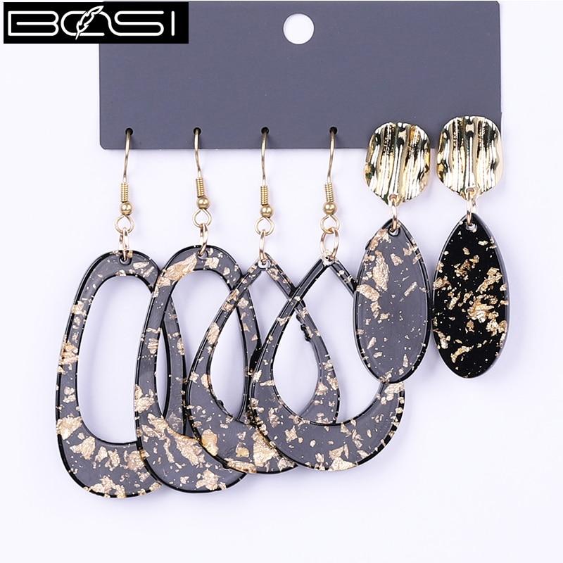 Черные серьги BOSI, модные ювелирные изделия, набор серег-капель, женские минималистичные длинные серьги, простые серьги в стиле бохо, оптовая...