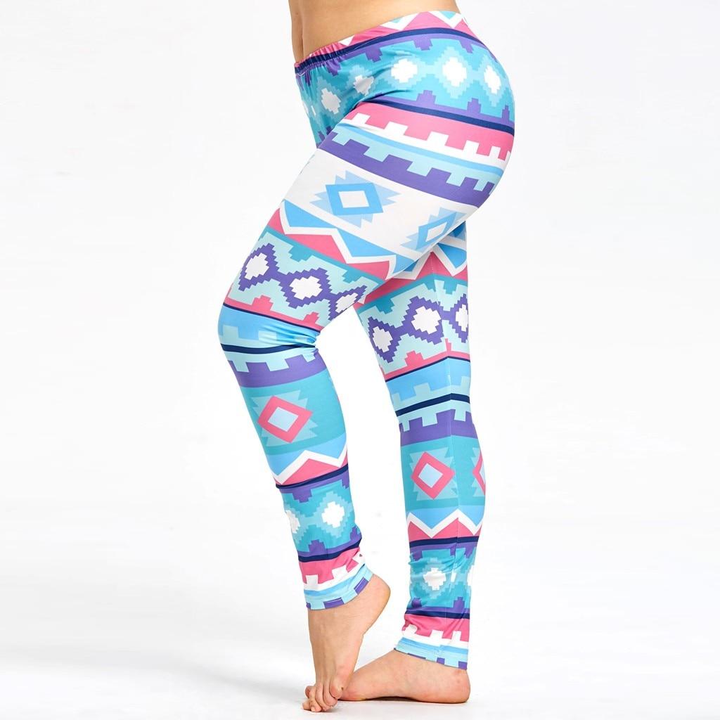 2019 New High Waist Leggings Women's Large Size Digital Printing Casual Fitness Pants Leggings Sport Women Fitness