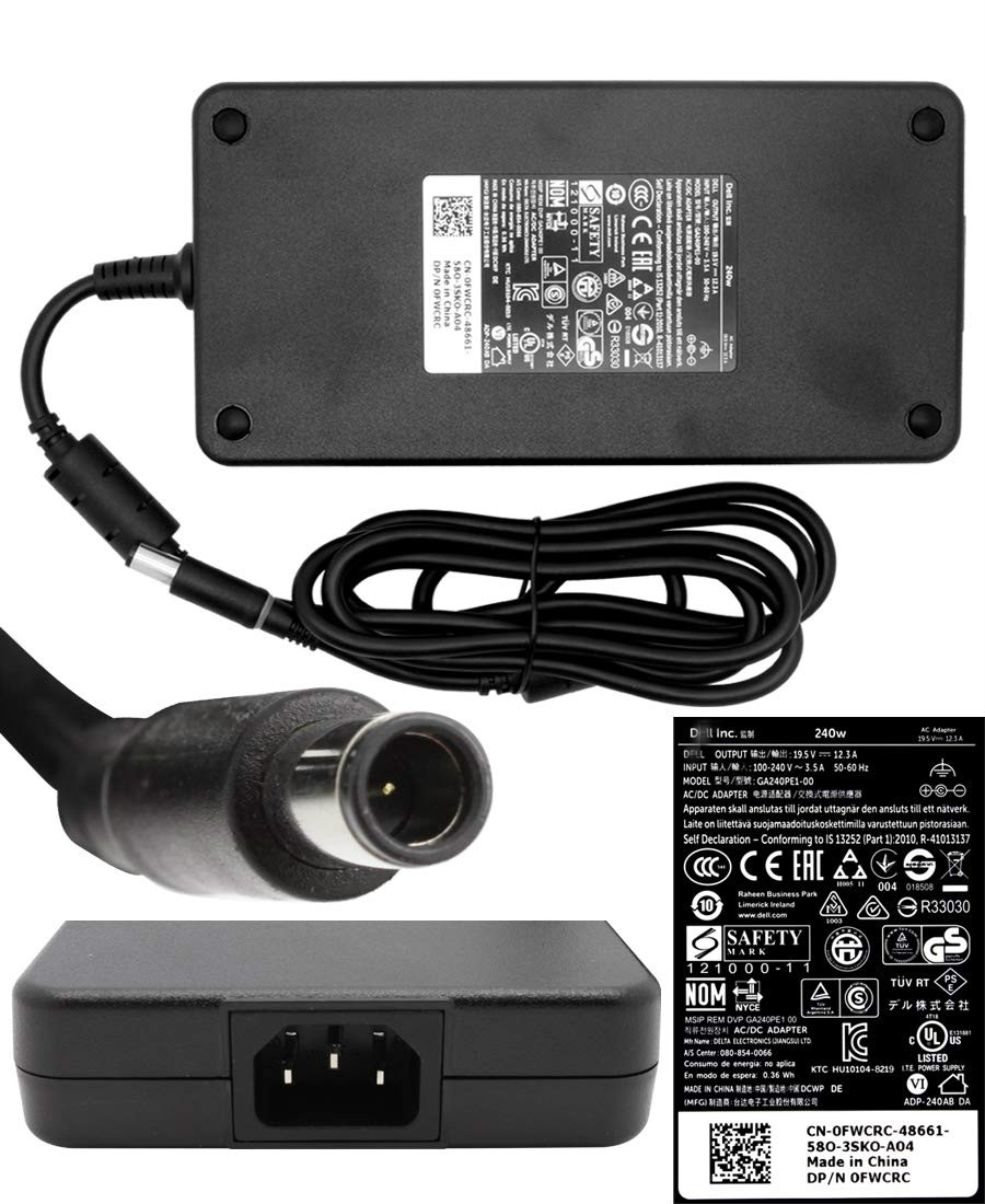 NEW GENUINE OEM DELL Precision 17 M7710 M7720 240W AC Adapter Power Charger Cord