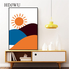 Nordic Art Home Canvas Painting Abstract Simple Printing Posters Wall Pictures for Living Room DJ535